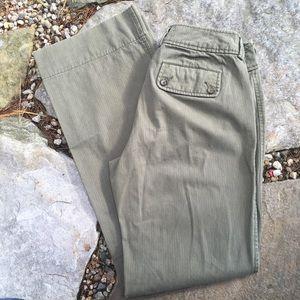 BANANA REPUBLIC Wide Leg Tonal Stripe Pants